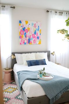 The guest room of A Beautiful Mess blogger Elsie Larson