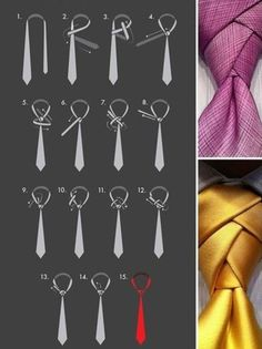 The eldredge tie knot is the Picasso of tie artistry. We'll teach you how to tie an eldredge knot, but be prepared, the eldredge knot is not easy. Nudo Windsor, Tie A Necktie, Necktie Knots, Urban Fashion, Mens Fashion, Fashion 2017, Diy Fashion, Make A Tie, Suits