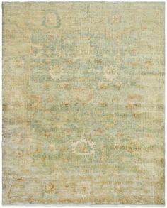 Rug OSH115C - Safavieh Rugs - Oushak Rugs - Wool Rugs - Area Rugs - Runner Rugs - Dark Green/Brown wool, traditional, knotted. Safaveih.com