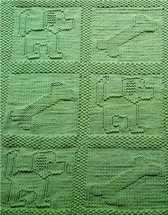Free Knitting Pattern for Puppy Dog Baby Blanket