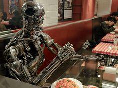 Terminator eats spaghetti by Suzuki san, via Flickr