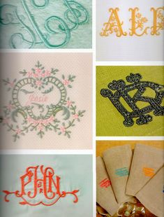 AESTHETICALLY THINKING: LUXURIOUS LINENS Monogram Fonts, Monograms, Leontine Linens, Linens And Lace, Needlework, Lettering, Embroidery, Detail, Luxury
