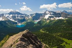 View from Carthew Summit - Carthew-Alderson trail in Waterton, Alberta. The view here is into the US and Glacier National Park of Montana.