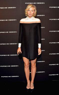 Tennis star Maria Sharapova in a Valentino shirtdress. #fashion