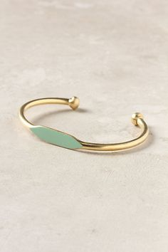 Mint and gold bangle - love!