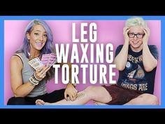 Leg Waxing Torture (ft. Jenna Marbles) | Tyler Oakley #JENLER    (Tyler and Jenna)