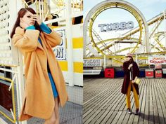Beachside Carnival Editorials - The ELLE Poland January 2012 Photoshoot Stars a Playful Kate Pernell (GALLERY)