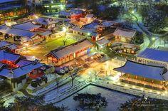 Namsan Hanok Village in Soul, Korea