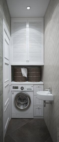 Vuoi nascondere una lavatrice? Ci sono diversi sistemi. Nella guida del mio blog te li racconto: rimarrai a bocca aperta! Buona lettura e buon arredamento! #arredamentobagno #arredobagno #lavatricebagno #ideebagno #ristrutturazionebagno #progettobagno #bathroomideas #salledebain