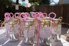 Homemade bubbles party favors