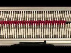warme Strickmütze auf einer Strickmaschine Brother KH 260 - YouTube