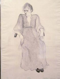 """Celia"" by David Hockney, 1973 (lithograph)"