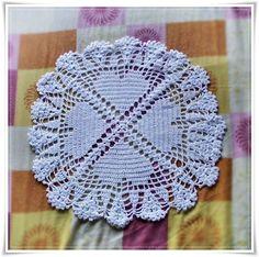 Carpeta de corazones en crochet