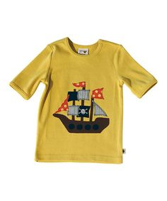Yellow Pirate Ship Tee - Infant & Toddler #zulily #zulilyfinds