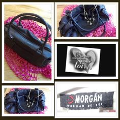 ✨25% BUNDLE DISCOUNT💫 VINTAGE DOCTORS STYLE BAG🌟 Morgan de toi is a French company that specializes in ladies clothing and accessories but their line produces a few handbags each year and this is one from their inception. Houndstooth style leather patterned, fully lined with inside and outside zipper pockets, 2 side snap compartments, 2 small inside credit card slots. Excellent used condition. Similar bags in their line retail around 75 lbs. HOLDS A LOT! Morgan de toi Bags