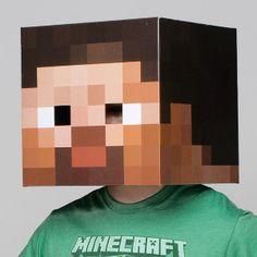 Máscara Minecraft. Cabeza de Steve, 30x30cm Máscara de la cabeza de personaje de Steve, perteneciente al famoso videojuego Minecraft.