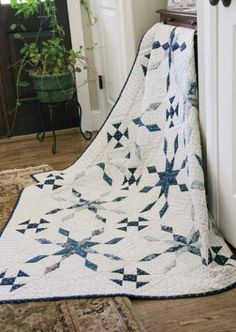 Blueberry Ice Queen Size Quilt Free Pattern