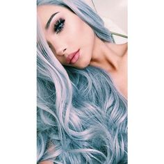Silver blue hair ❤ liked on Polyvore featuring accessories, hair accessories, hair and short hair accessories