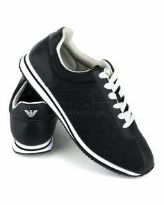 Zapatillas Armani Jeans Negras Multilogo