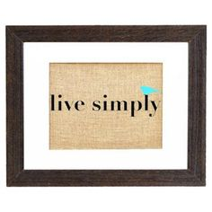 Check out this item at One Kings Lane! Live Simply Print