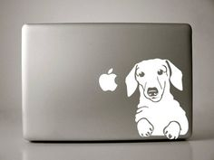Dachsund Laptop Vinyl Decal You need this @Jordan Bromley Otto!