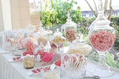 Pink & white candy table