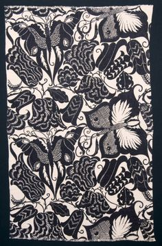 """DAGOBERT PECHE: """"SWALLOW-TAIL""""  FABRIC  Dagobert Peche was one of the most important designers of the Wiener Werkstätte. The Wiener Werkstätte Archive, which is kept by the MAK, contains numerous of his very varied designs, of which the """"Swallow-tail"""" pattern is one of the best-known."""