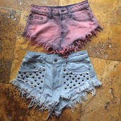 CARMAR cheeky shorts✌️ 2 carmar denim cheeky shorts. Hardly worn, perfect condition, 1 with funky silver studs and 1 with cool pink wash. Lots of fun LF Shorts Jean Shorts