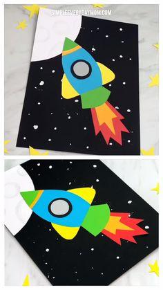 Simple & Fun Rocket Craft For Kids Simple & Fun Rocket Craft For Kids Crafts For Kids Rocket Craft F Fun Activities For Kids, Easy Crafts For Kids, Toddler Crafts, Craft Activities, Preschool Crafts, Projects For Kids, Fun Crafts, Art For Kids, Art Projects
