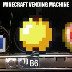 Minecraft golden apple in a vending machine. Funny  @weaversam8