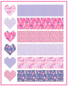 Today, I am excited to share a new, free, baby quilt pattern- Baby Love! This quilt pattern is super fast and super fun. Pink Quilts, Baby Girl Quilts, Girls Quilts, Quilting For Beginners, Quilting Tutorials, Baby Quilt Patterns, Skirt Patterns, Blouse Patterns, Sewing Patterns