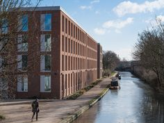 The Union   Glenn Howells Architects Architectural Design Studio, Architecture Design, Student Bedroom, Pocket Park, Word Building, Bedroom With Ensuite, Colorful Artwork, Dormitory, Reception Areas