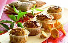 Sienimuffinit, joissa maistuu aurinkokuivattutomaatti. Tarjoa esimerkiksi brunssilla.