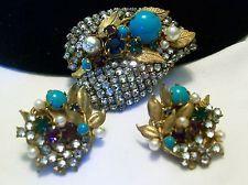 VINTAGE MIRIAM HASKELL FAUX PEARL & ROSE MONTEE RHINESTONE BROOCH PIN & EARRINGS Vintage Pearls, Vintage Love, Vintage Costume Jewelry, Vintage Costumes, Antique Jewelry, Vintage Jewelry, Pearl Rose, Miriam Haskell, Brooch Pin