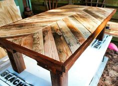 Make it a bench instead of a table!