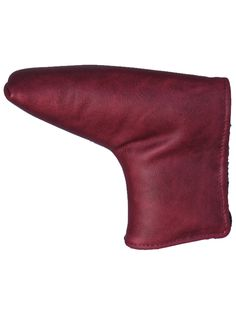 Red Leather Putter Headcover http://www.aceofclubsgolfco.com/collections/putter-headcovers/products/red-leather-putter-headcover-standard