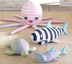 Shark & Octopus Patchwork Plush - ideas