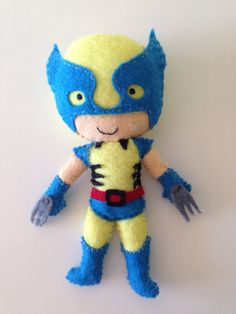 Wolverine is the colour scheme bright blue, yellow (can be softish) and hints of red