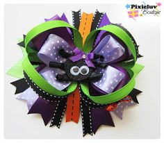 Halloween hair bow tutorial. Seriously the best tutorial for hair bows ever!!