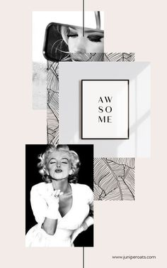 """AWSOME"" Typography art by JuniperOats Studio. Web Design, Layout Design, Design Art, Graphic Design, Bedroom Minimalist, Minimalist Interior, Minimalist Art, Arte Fashion, Fashion Collage"