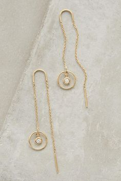 Anthropologie Vicinitas Threaded Earrings - $44.00