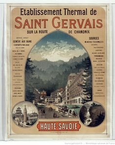 Evian Les Bains, Jules Cheret, Saint Gervais, Chamonix, Ville France, Travel Posters, Vintage Posters, Movie Posters, Reproduction