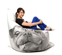 This might be the single greatest pug-themed, heck, dog-themed product I've ever laid eyes on. IT'S A PUG BEAN BAG COVER, people. Pugs, Pug Mops, Dog Milk, Living With Cats, Bean Bag Covers, Dog Lover Gifts, Dog Gifts, Cat Design, Best Dogs