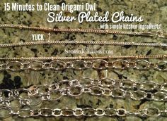 15 minutes to tarnish free Origami Owl silver-plated necklace chains with simple household ingredients. Get the recipe >>