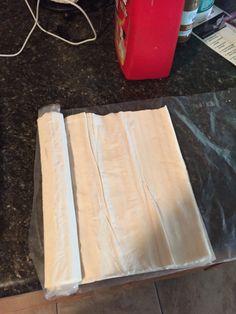Philo dough starting to make Baklava
