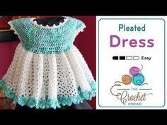 Tutorial Vestido Niña Bebé Crochet o Ganchillo Baby Girl Dress (English Subtitles) - YouTube