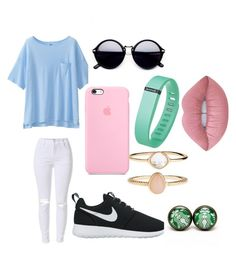 """""""reg day"""" by lexiekelly on Polyvore featuring Uniqlo, NIKE, Fitbit, Accessorize and Lime Crime"""