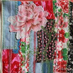 art-textile scraps of fabric