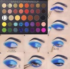 Eye Makeup Steps, Makeup Eye Looks, Eye Makeup Art, Creative Eye Makeup, Colorful Eye Makeup, Makeup Morphe, Makeup Cosmetics, Makeup Pictorial, Eye Makeup Designs