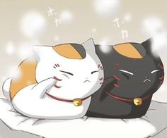 Nyanko sensei and Rio Anime Chibi, Anime Kawaii, Pet Anime, Kawaii Cat, Kawaii Chibi, Anime Animals, Kawaii Shop, Manga Anime, Anime Art